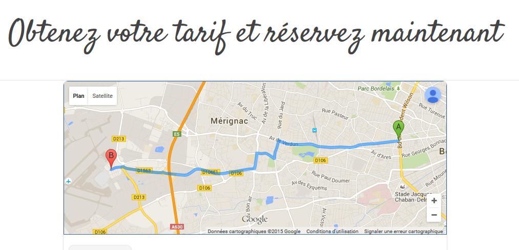 Module de réservation VTC Bordeaux
